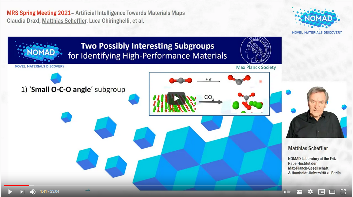 Artificial Intelligence Towards Materials Maps