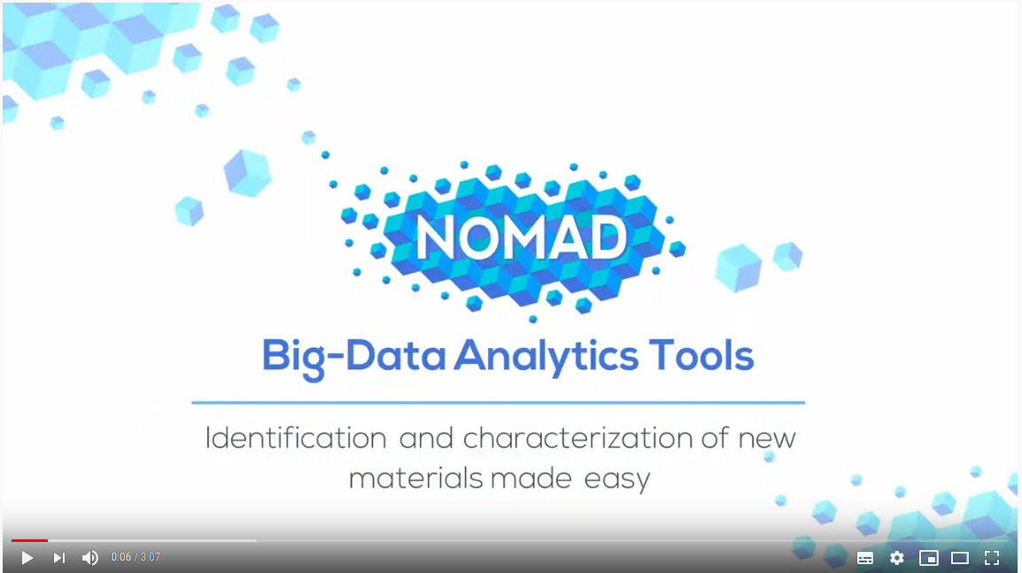 NOMAD Big-Data Anatlytics Tools