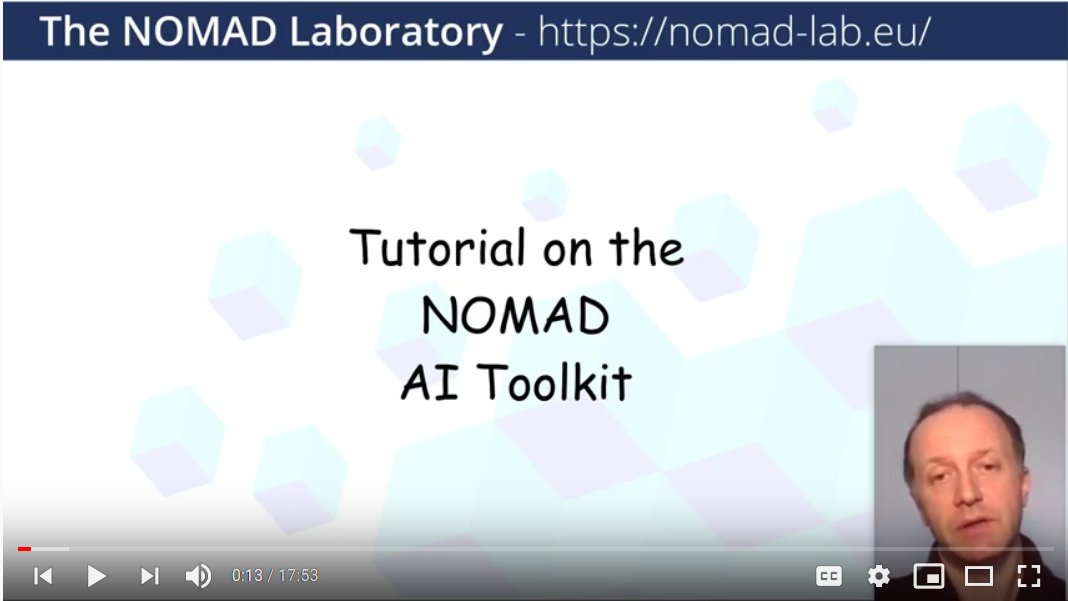 Tutorial on the NOMAD Artificial Intelligence Toolkit